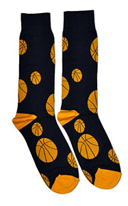 FineFit Man Cave Trouser Socks - One Size, Basketball