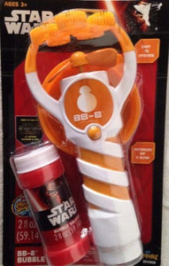 Star Wars BB-8 Bubble Flurry - Motorized Dip and Blow (Orange & White)