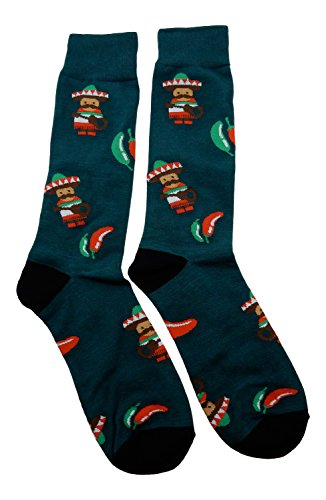Fine Fit New! Mariachi Band & Chili Peppers Socks