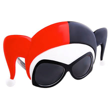 Load image into Gallery viewer, DC Comics Harley Quinn Mask Sunglasses Harley Quinn Halloween Sunglasses