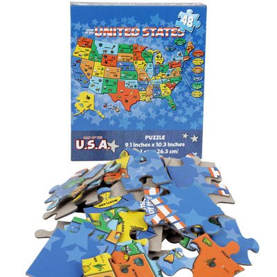 Map of The U.S.A. Puzzle 48pcs