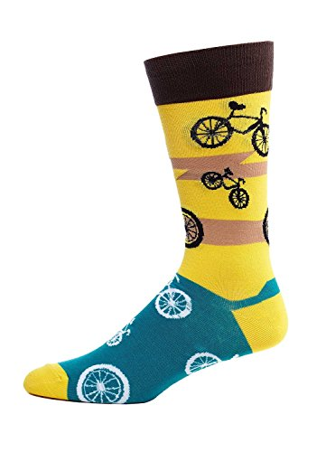 FineFit Man Cave Trouser Socks - One Size, Bicycles Yellow