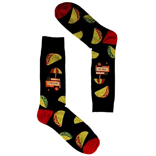 Men's Everday Novelty Fast Foods Comfort Foods Trouser Dressy Casual Comfy Socks Taco Stand