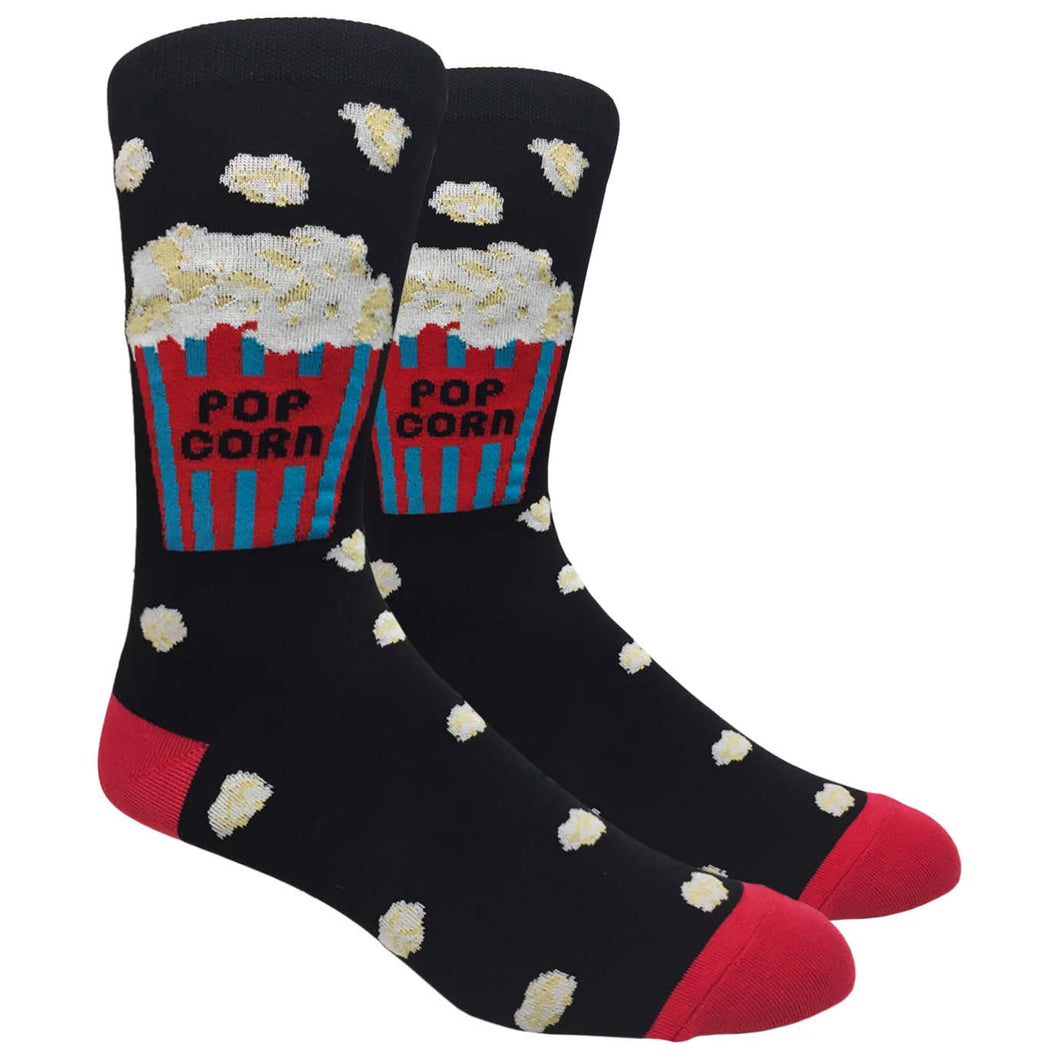 FineFit Man Cave Trouser Socks - One Size, Popcorn