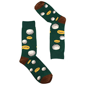 Men's Everday Novelty Funny Golf Lovers Trouser Dressy Casual Comfy Socks FORE! Green