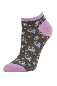 Women's Casual Cotton No Show Socks (6 Pairs) (9-11, E-MUL)