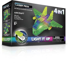 Load image into Gallery viewer, Laser Pegs 4-in-1 Aircraft Building Set