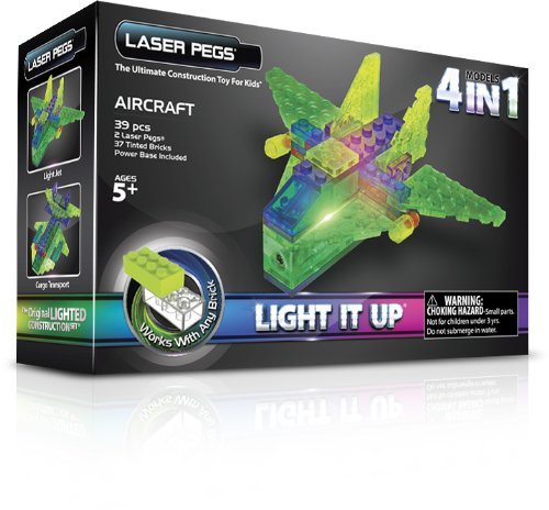Laser Pegs 4-in-1 Aircraft Building Set