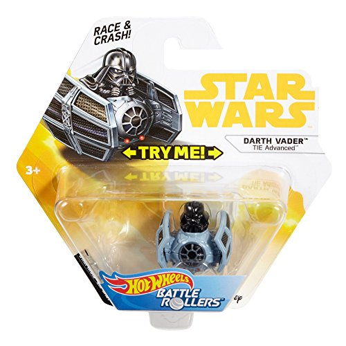 Hot Wheels Star Wars Battel Rollers Darth Vader Tie Advanced Vehicle