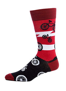 FineFit Man Cave Trouser Socks - One Size, Bicycles Red