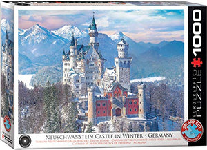 Neuschwanstein Castle in Winter 1000-Piece Puzzle