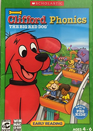 Clifford the Big Red Dog: Phonics PC Game Windows XP