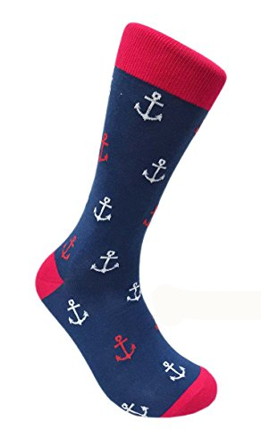FineFit Man Cave Trouser Socks - One Size, Anchor_1