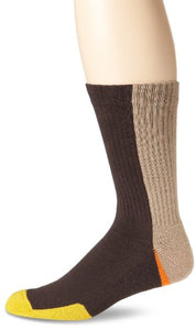 K. Bell Socks Men's Color Block Tech Sock Crew, Coffee, Sock Size: 10-13/Shoe Size:9-11