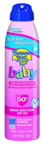Banana Boat kids Tear-Free Continuous Lotion Spray SPF 50: 6 OZ.
