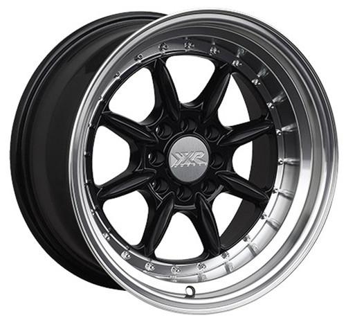 XXR 002.5 15 X 8 INCH - ET0 - 100+108X4 PCD - GLOSS BLACK POLISHED LIP