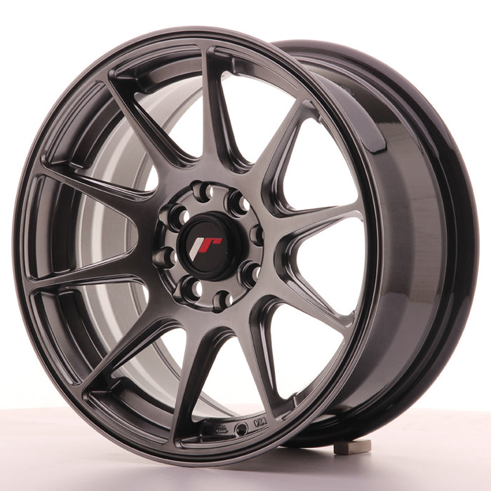 JR-Wheels JR11 Wheels Dark Hyper Black 15 Inch 7J ET30 4x100/108