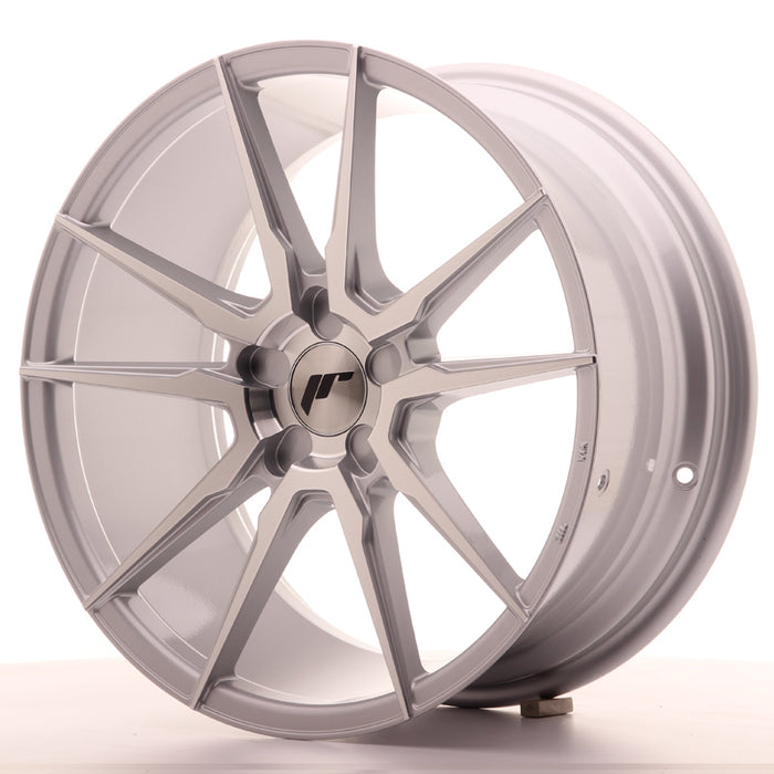 JR-Wheels JR21 Wheels Silver Machined 18 Inch 8.5J ET40 5H Blank
