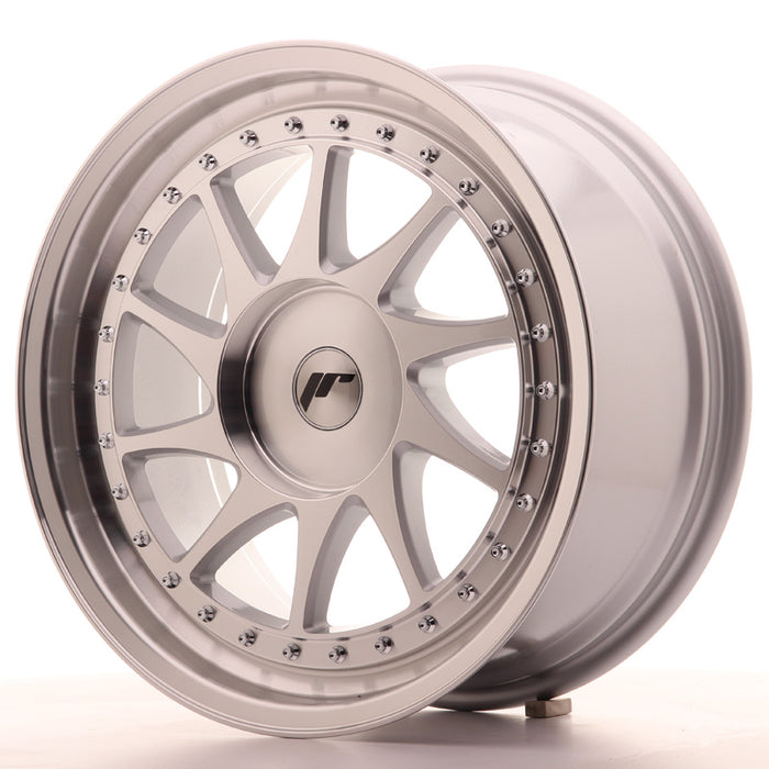JR-Wheels JR26 Wheels Silver Machined 18 Inch 8.5J ET35-40 Blank