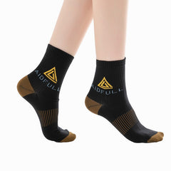 Copper Infused Compression Foot Socks with Support