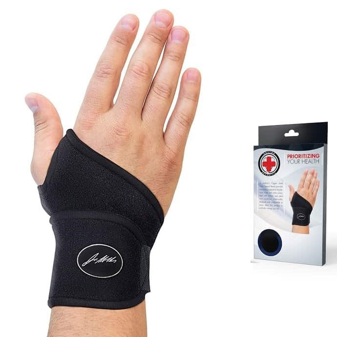 Copper Lined Wrist Support Adjustable Brace