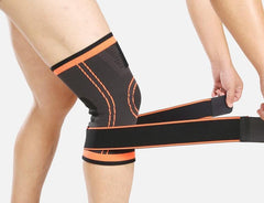 Compression Sleeve Knee Brace with Stabilizer Straps