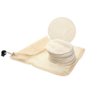 Bamboo Cotton Reusable Makeup Remover Pads - 12 Pieces