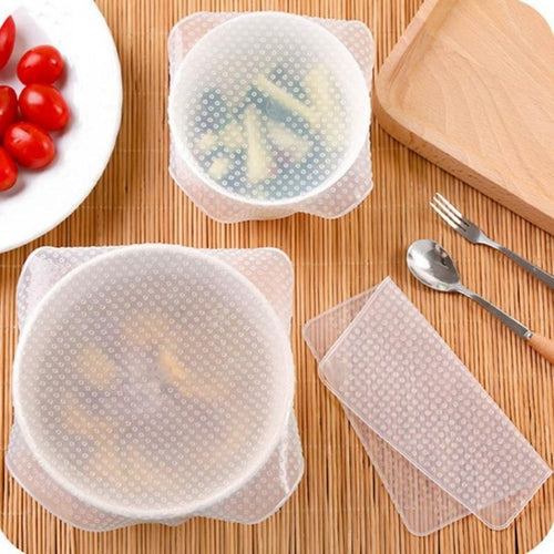 Reusable Stretch Silicone Wrap - 4 pieces - Eco Basics Online