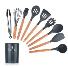Load image into Gallery viewer, Silicone Kitchen Accessories Cooking Utensils Tools Set Non-stick Spatula Shovel Kitchenware Cookware Kitchen Gadgets Kit Spoon - Eco Basics
