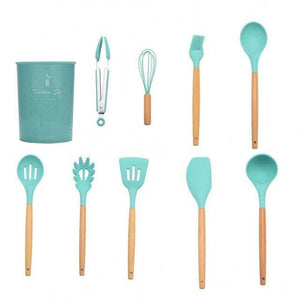 Silicone Kitchen Accessories Cooking Utensils Tools Set Non-stick Spatula Shovel Kitchenware Cookware Kitchen Gadgets Kit Spoon - Eco Basics