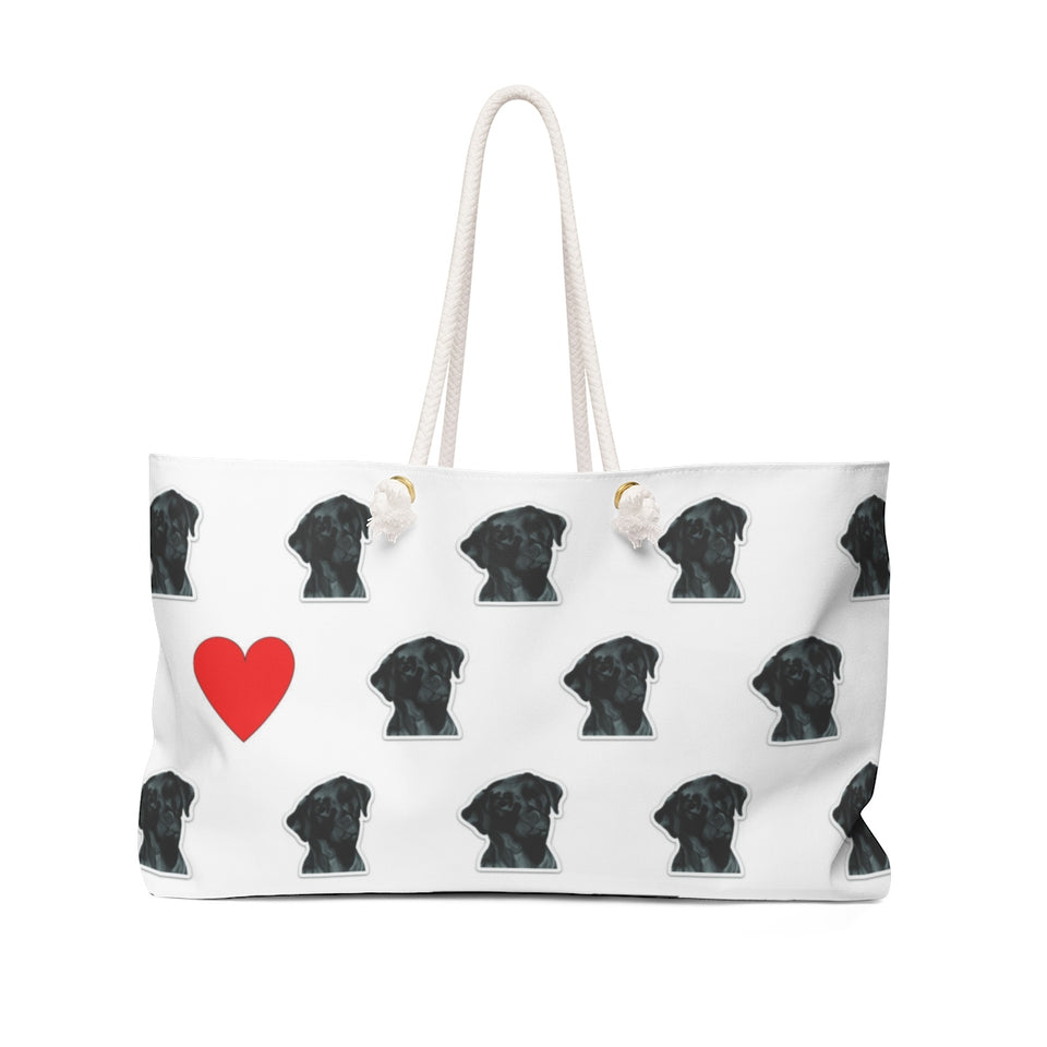 Black Lab Dog Weekender Tote- SMH