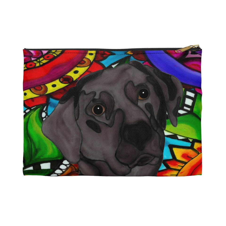Chocolate Lab Dog Zipper Pouch - BL