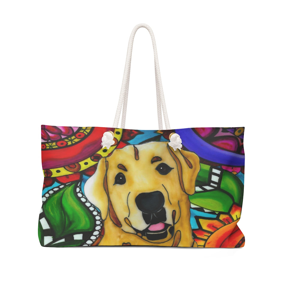 It's a Beautiful Yellow Lab Life Weekender Tote