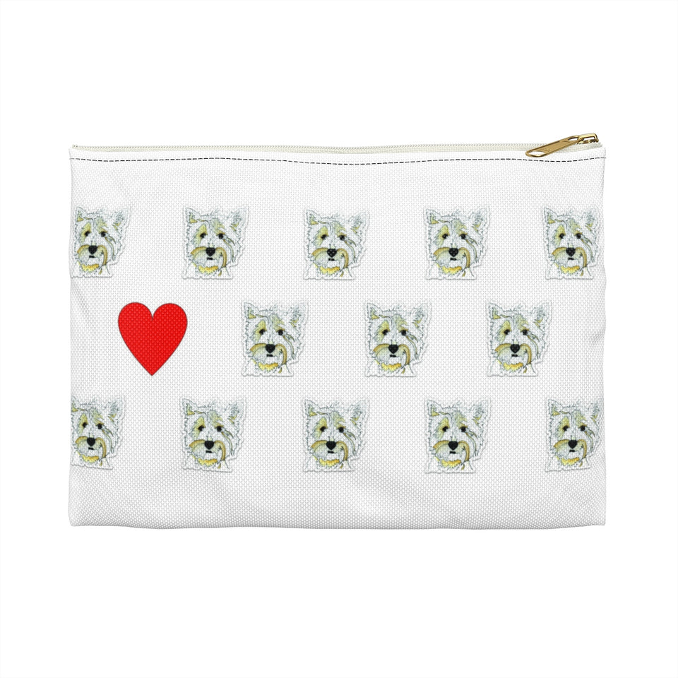 Stole My Heart Highland Terrier Zipper Pouch