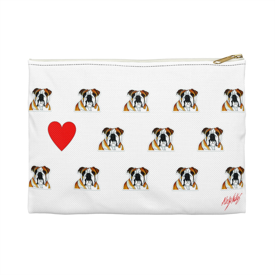 Stole My Heart Bulldog Zipper Pouch