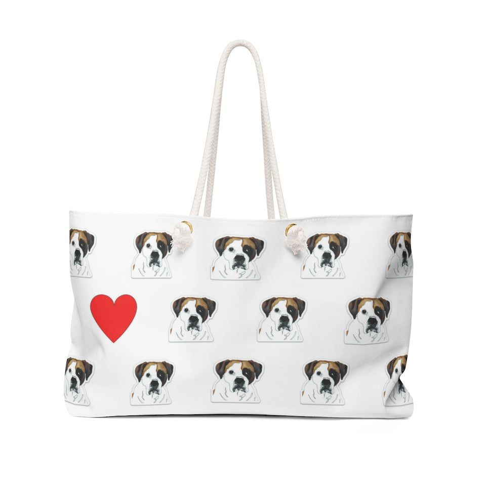 Stole My Heart Boxer 2 Weekender Tote