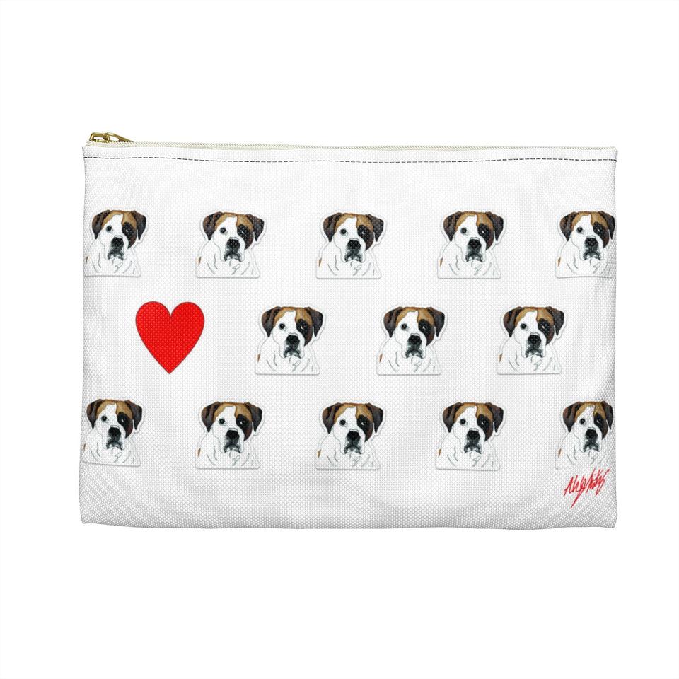 Boxer 2 Dog Zipper Pouch- SMH