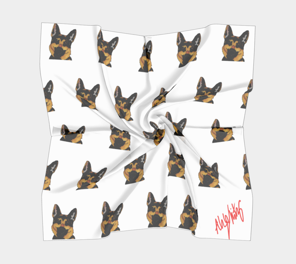 German Shepherd Square Scarf