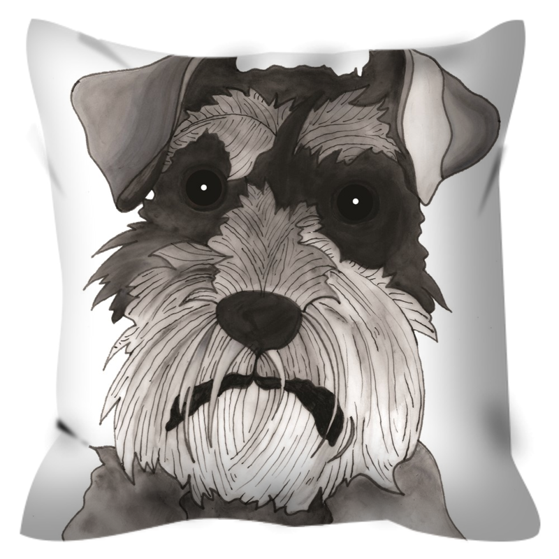 Schnauzer Dog Outdoor Pillow - SMH