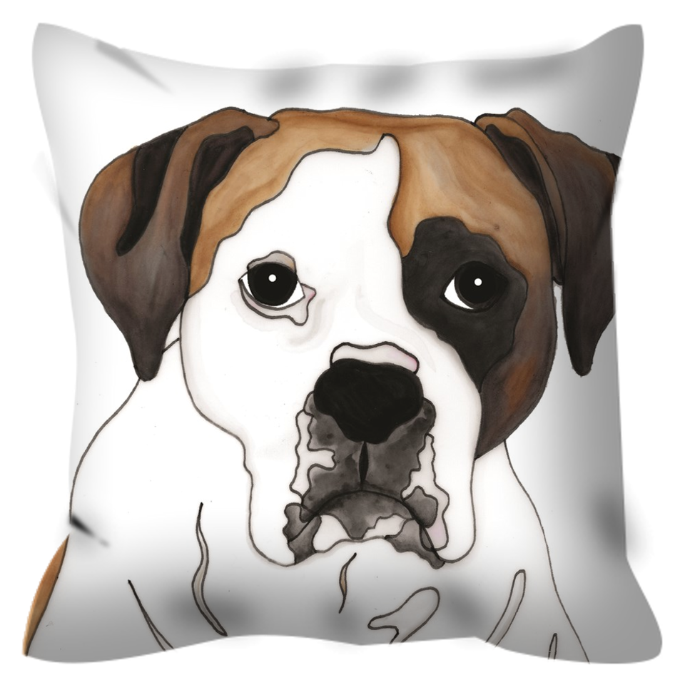 Boxer 2 Dog Outdoor Pillow - SMH