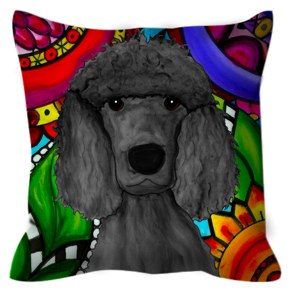 Standard Poodle Outdoor Pillow - BL