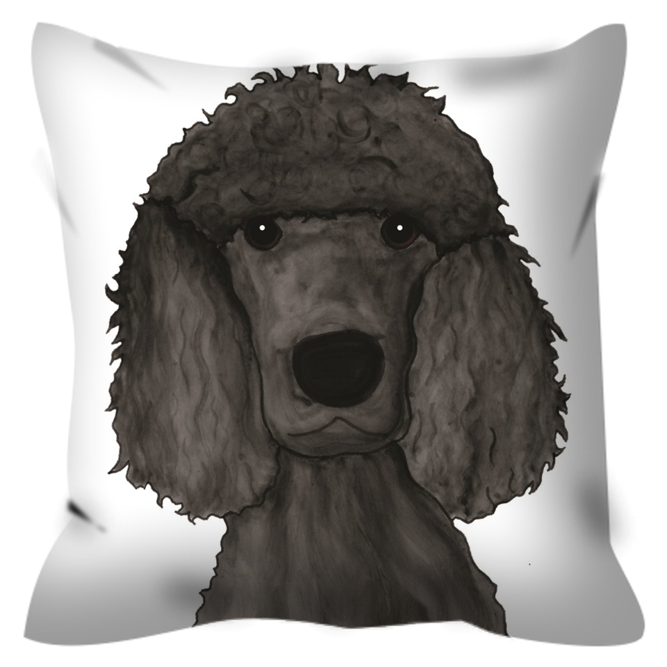 Standard Poodle Outdoor Pillow - SMH