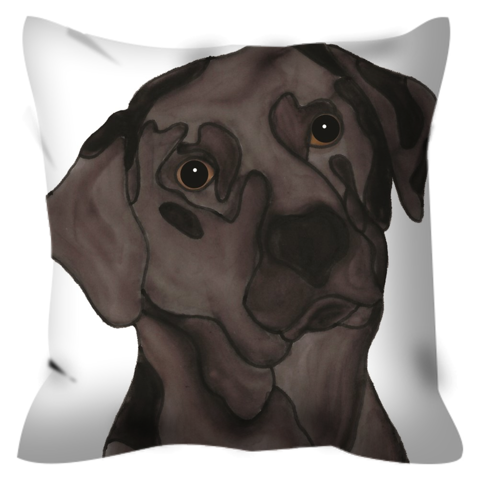 Chocolate Lab Dog Outdoor Pillow - SMH