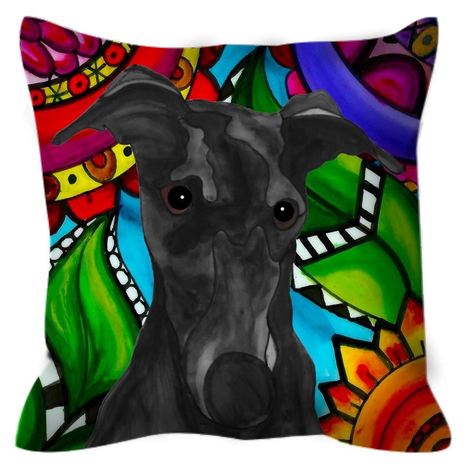 Greyhound Dog Outdoor Pillow - BL