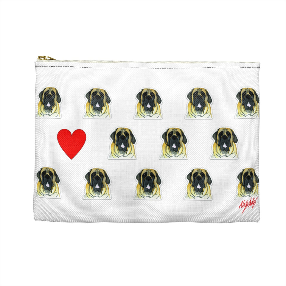 English Mastiff Dog Zipper Pouch- SMH