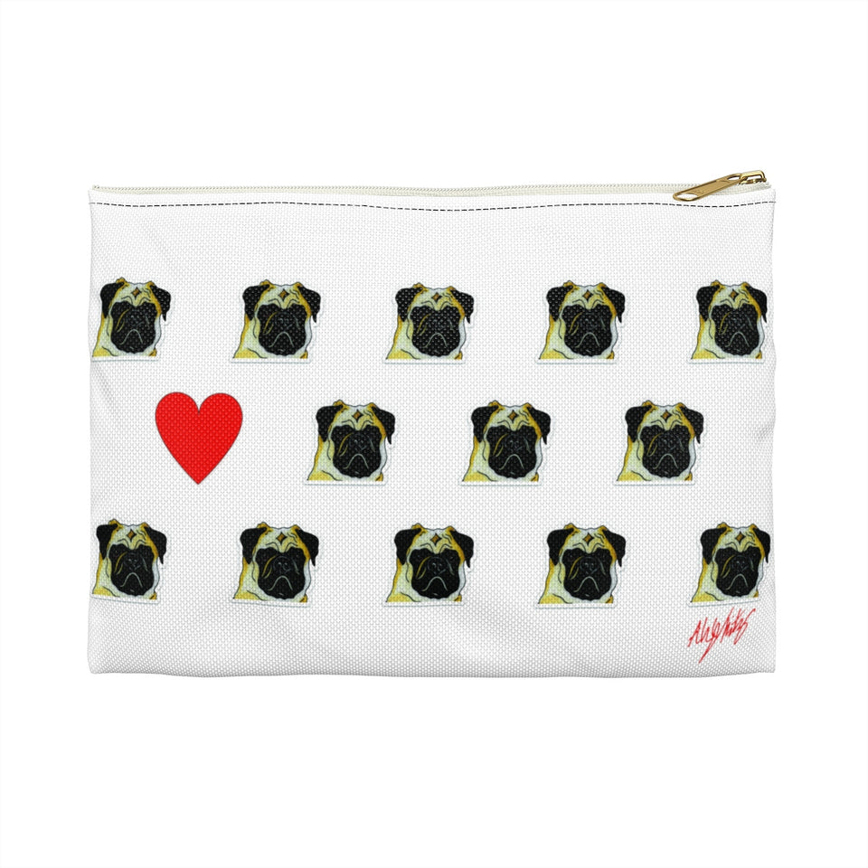 Stole My Heart Pug Zipper Pouch