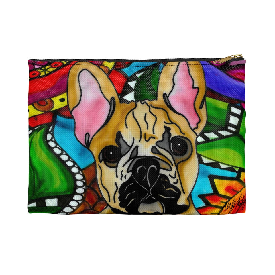 French Bulldog Zipper Pouch- BL