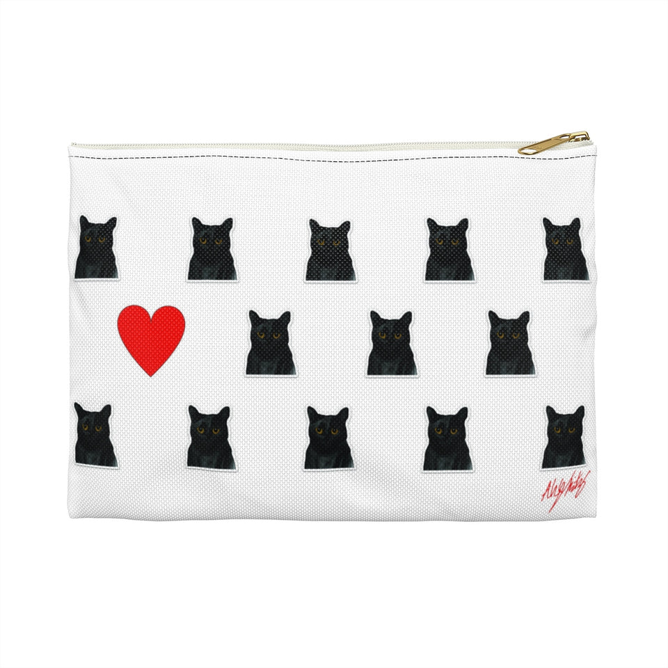 Black Cat Zipper Pouch - SMH