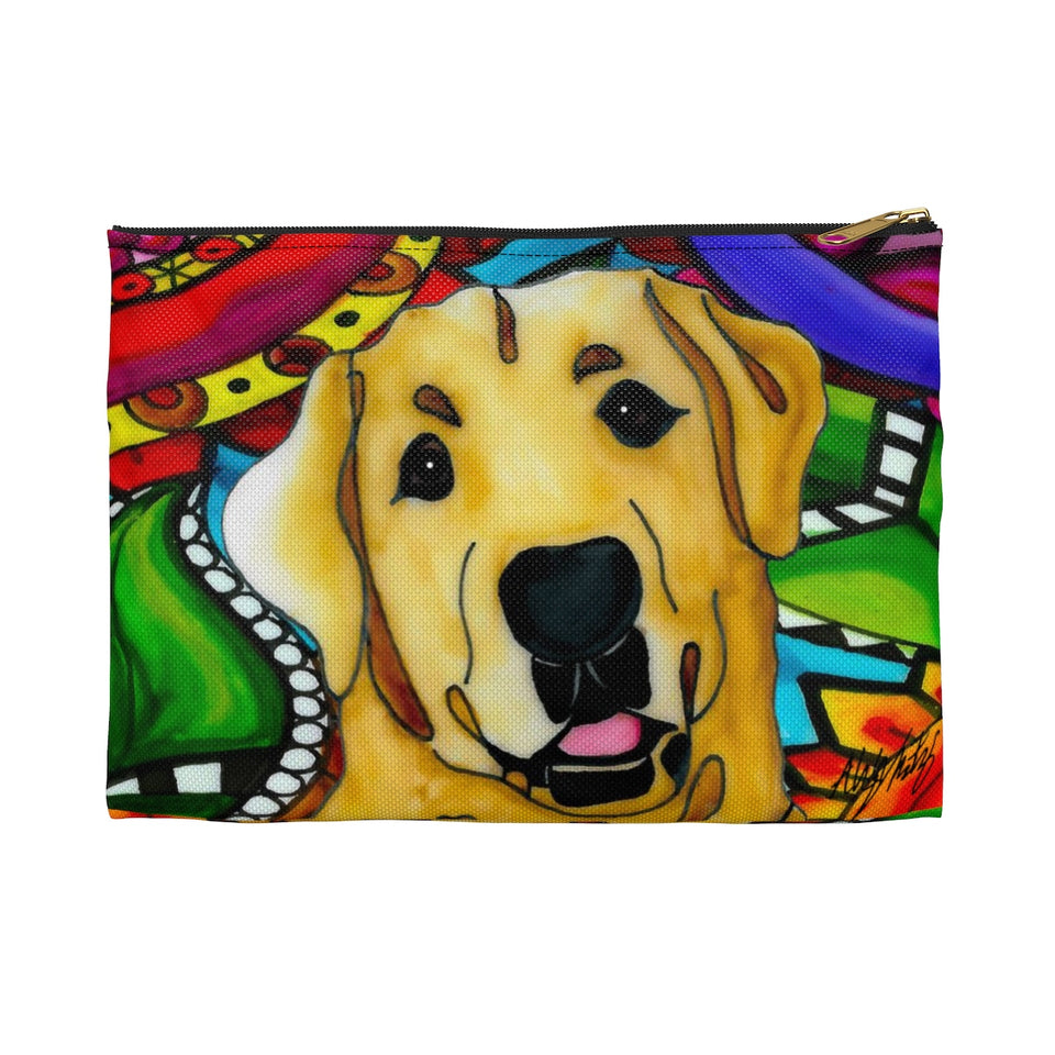 It's a Beautiful Yellow Lab Life Zipper Pouch