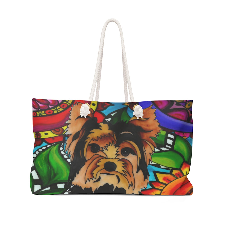 It's a Beautiful Yorkie Life Weekender Tote